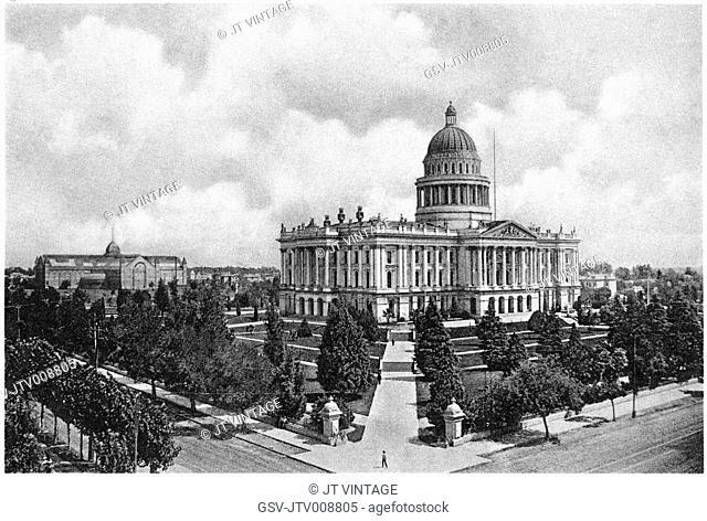 architecture, capitol, Building, Sacramento, historical