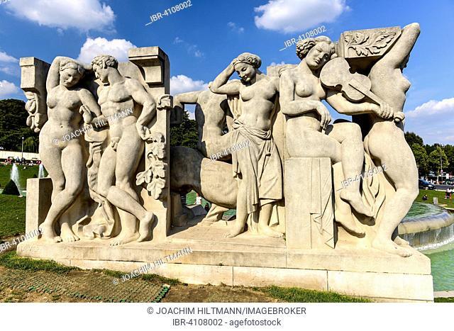 Sculpture La joie de vivre of Léon-Ernest Drivier, Jardins du Trocadéro, Trocadéro Gardens, Paris, France