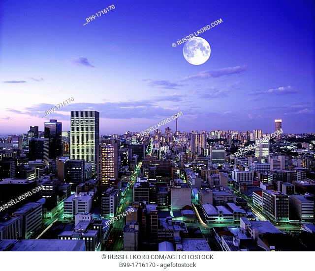 Downtown Skyline Johannesburg Transvaal South Africa