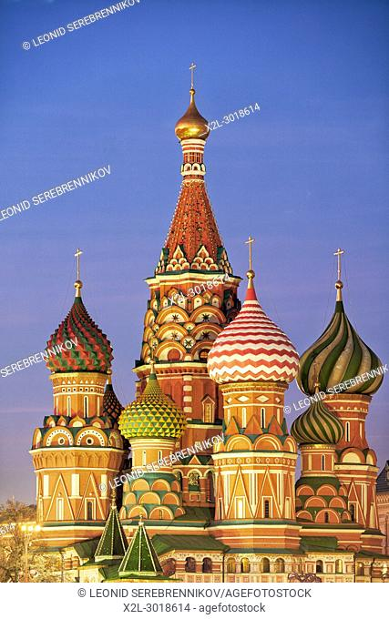 The Cathedral of Vasily the Blessed, commonly known as Saint Basil's Cathedral. Red Square, Moscow, Russia