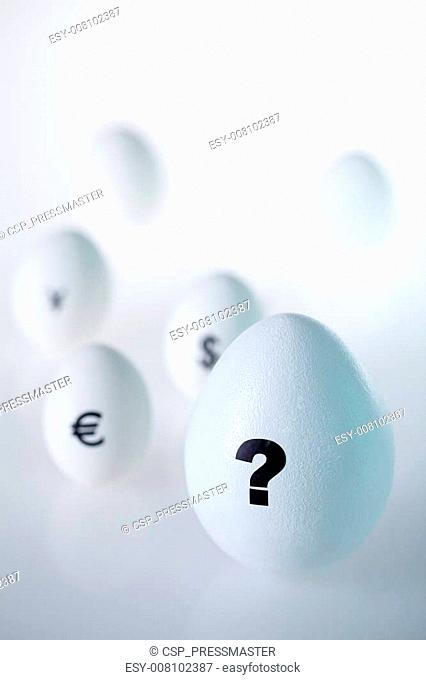 Egg with question