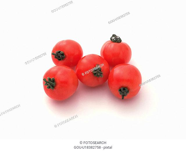 Cherry tomatoes, high angle view