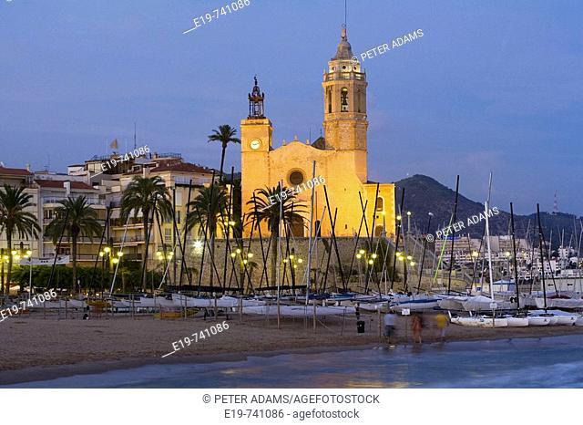 Sant Bartomeu Church. Sitges, Barcelona province, Catalonia, Spain