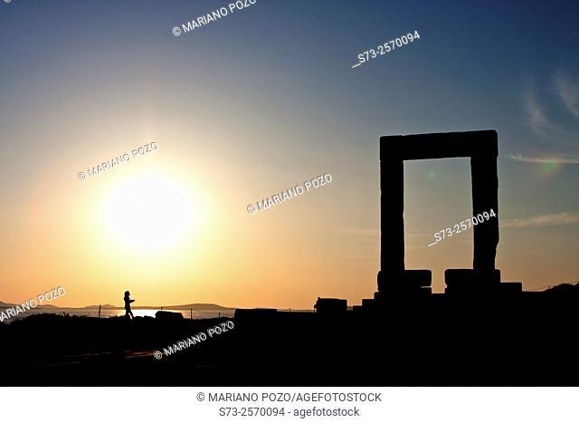 Greek Temple of Apollo, Naxos, Cyclades Islands, Greece, Europe