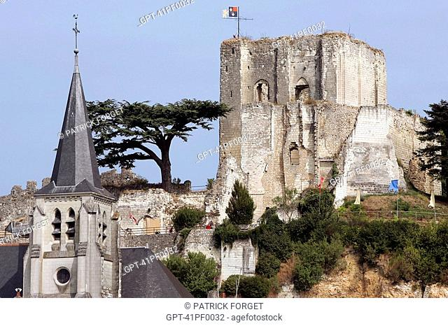 CHATEAU AND CHURCH, MONTRICHARD, LOIR-ET-CHER 41, FRANCE