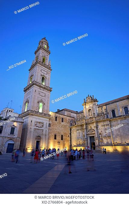 Lecce Cathedral is the cathedral of the city of Lecce in Apulia, Italy, dedicated to the Assumption of the Virgin Mary. The cathedral is located in the center...