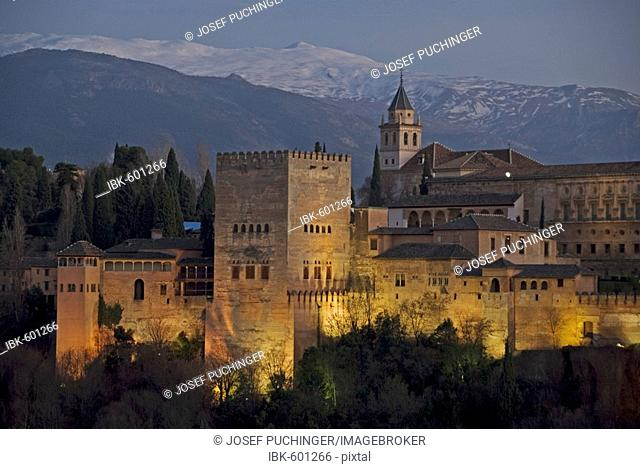 Alhambra the red castle the last bastion of the moorish people, Andalusia, Granada, Spain