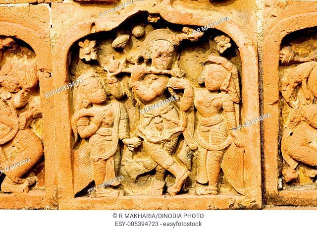 Terracotta panels of madan mohan temple at bishnupur bankura , West Bengal , India