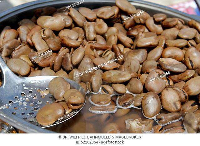 Calabar beans, cooked snack, Jaffa, Tel Aviv, Israel, Middle East