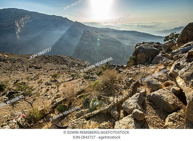 Oman; Small village on the mountains of Jebel Shams