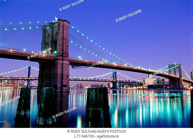 Brooklyn Bridge. New York City, USA