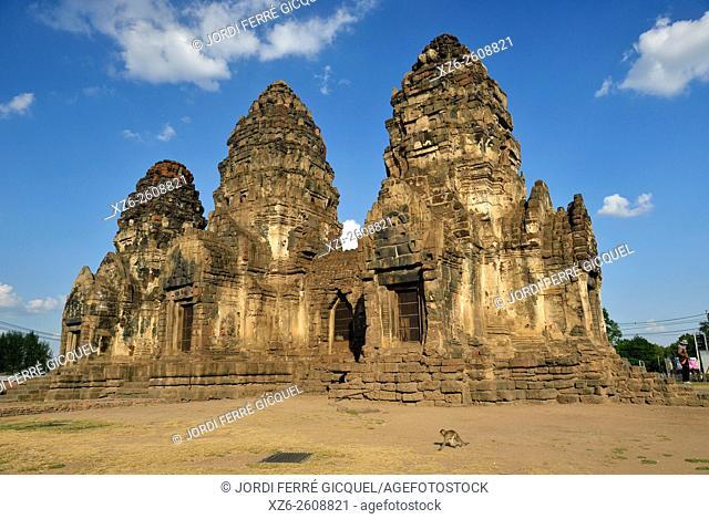 Prang Sam Yot temple, Lopburi, Thailand, Asia