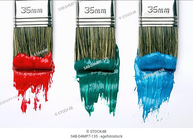 Paint Brush with red color