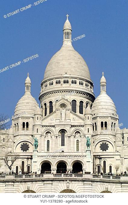 Dome of the Basilica of the Sacre Coeur, Montmartre, Paris, France, Europe