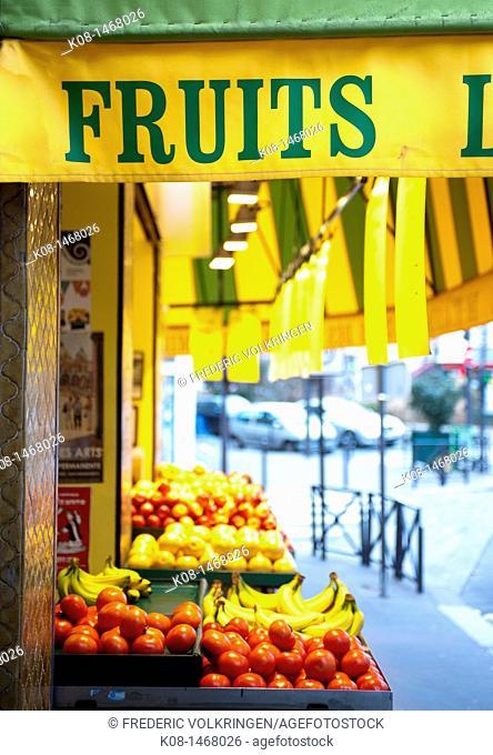 Fruit shop, Paris, France