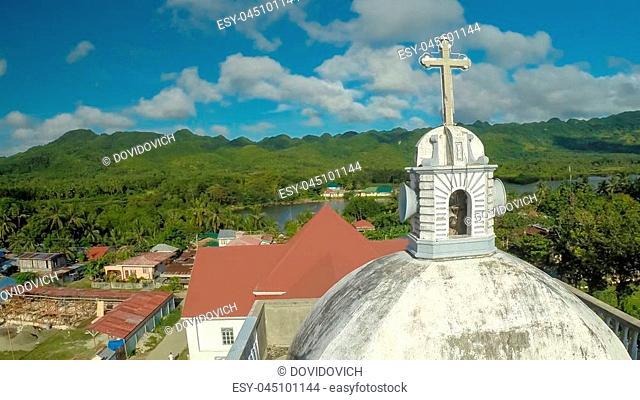 Tower of the Catholic Church. Anda Pablacion. Bohol island