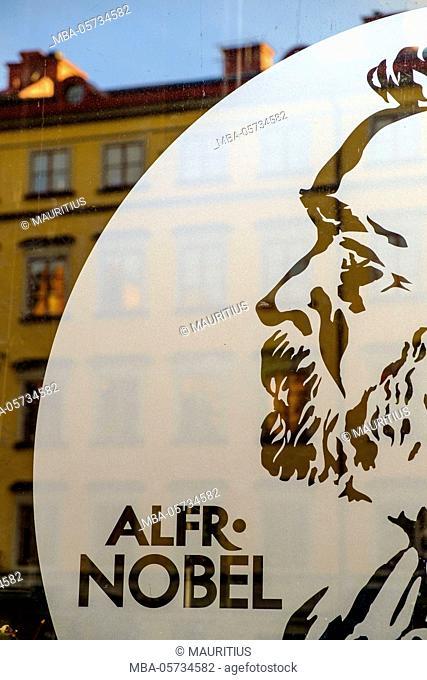 Alfred Nobel Museum in Gamla Stan district in Stockholm, Sweden