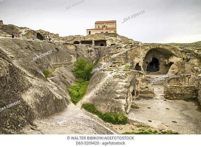 Georgia, Uplistsikhe, 7th century cave city, high angle view