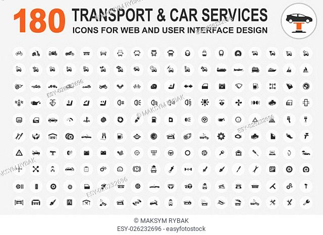 Car service and some types of transportation icon