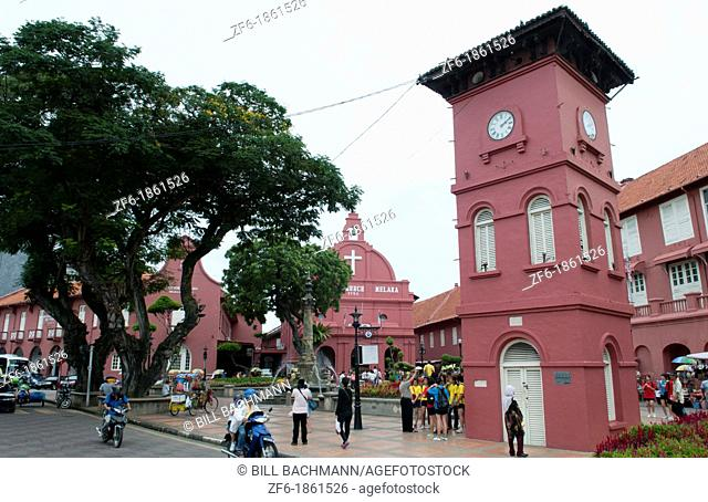 Melaka Malaysia Hertiage City Main Square downtown artists area