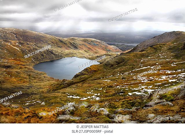 A break in the clouds in Lake District