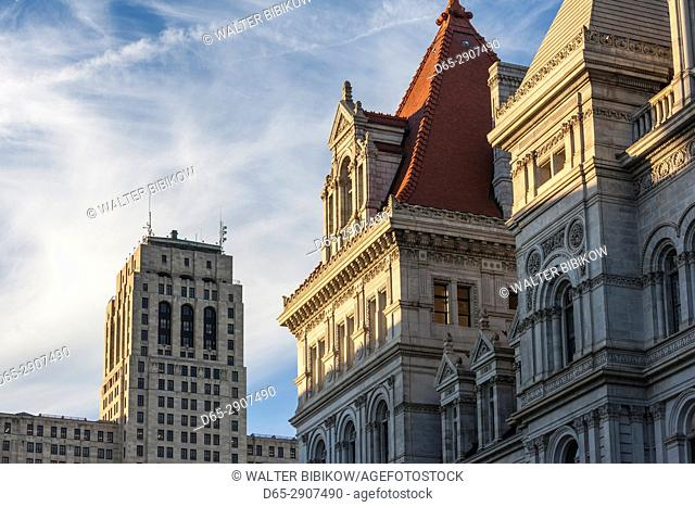 USA, New York, Hudson Valley, Albany, New York State Capitol Building, detail