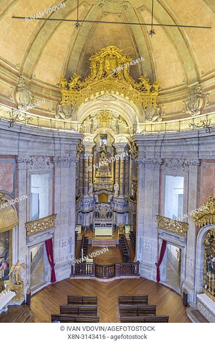 Clerigos church interior (1750), Porto, Portugal
