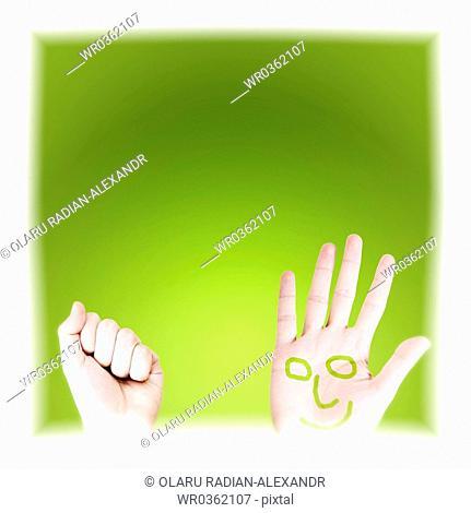 Hand of a men. Hidden concept. Isolated