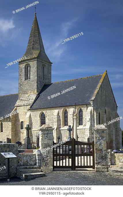 Eglise Saint Pierre, originally built 11th Century, Destroyed on D-Day, and rebuilt in 1950, St Pierre du Mont, Normandy, France
