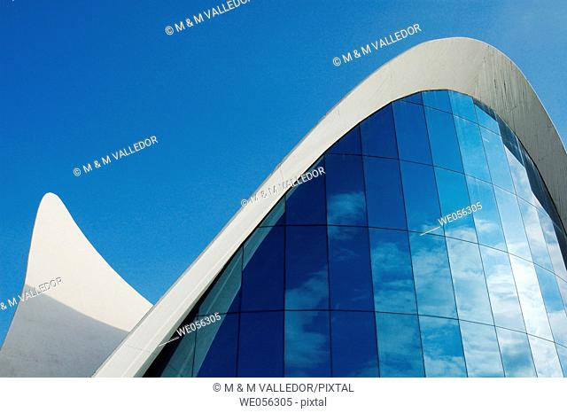 Oceanogràfic aquarium (architect Felix Candela), City of Arts and Sciences. Valencia, Comunidad Valenciana, Spain