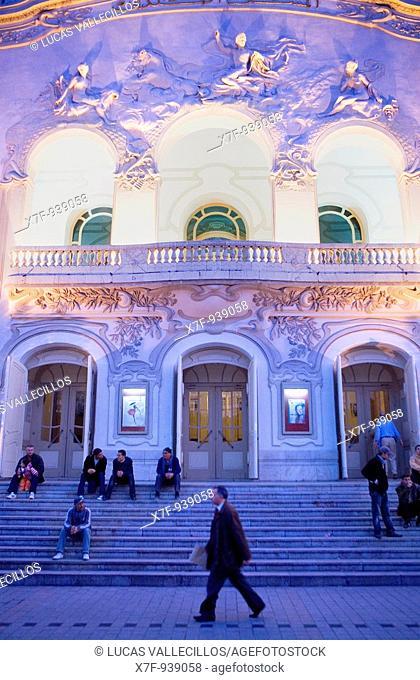 Tunisia: City of Tunis  Theatre, in Habib Bourguiba Avenue