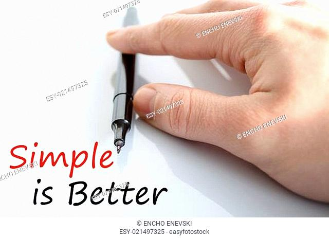 Simple is Better Concept Isolated Over White Background