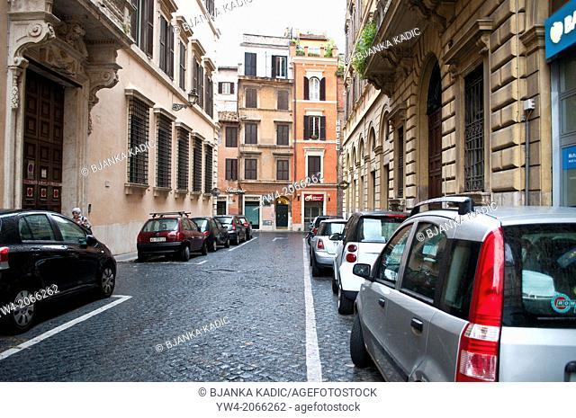 Street in Campo de' Fiori neighbourhood, Rome, Italy