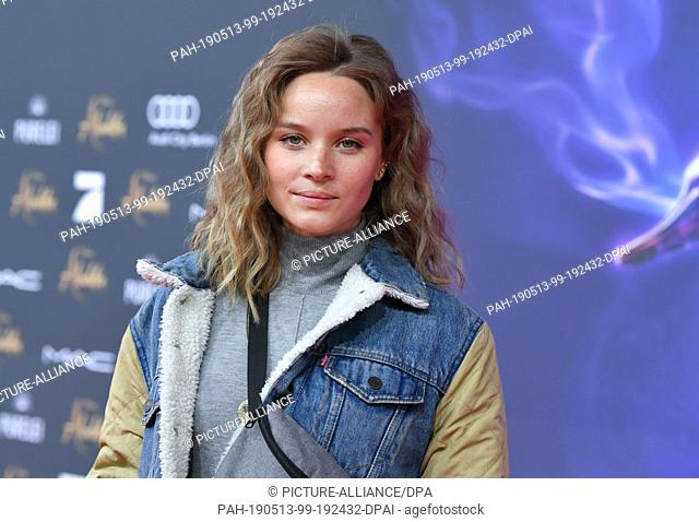 """11 May 2019, Berlin: Actress Sonja Gerhardt at the gala screening of the film """"""""Aladdin"""""""" at the cinema UCI Luxe Mercedes Square"""