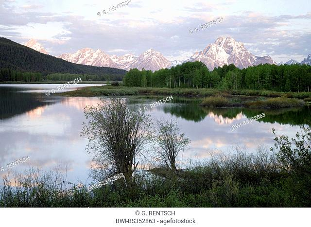Snake River with Teton Range, Grand Teton National Park, USA, Wyoming, Grand Teton National Park