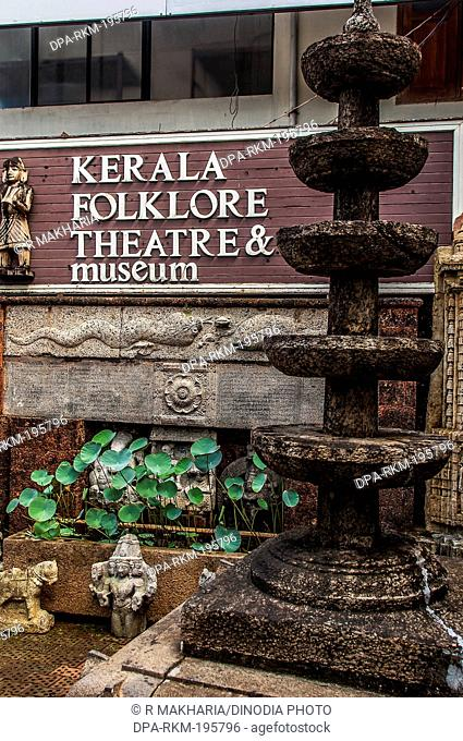 Folklore theatre museum, thevara, cochin, kerala, india, asia