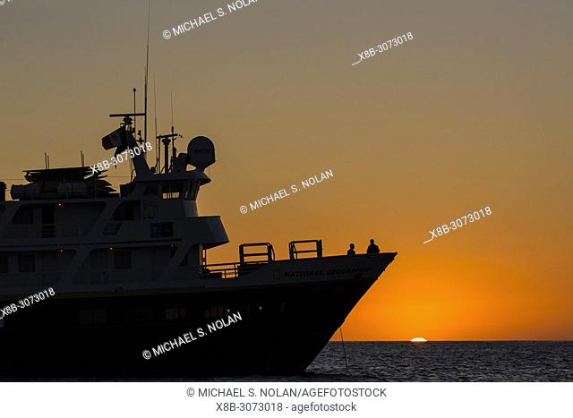The Lindblad Expeditions ship National Geographic Sea Lion in Baja California Sur, Mexico