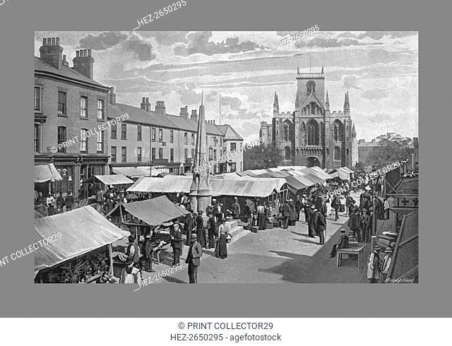 Market Place, Selby, c1900 . Artist: Poulton & Co