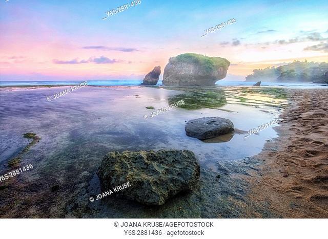 Kukup Beach, Yogyakarta, Java, Indonesia, Asia
