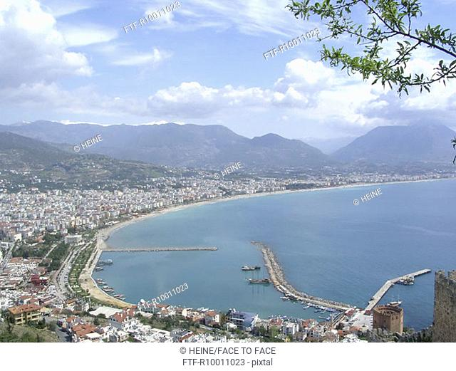 View to the harbour of Antalya, Turkey