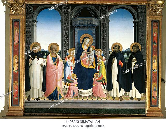 Fiesole Altarpiece, by Giovanni da Fiesole, known as Fra Angelico (ca 1400-1455). Convent of San Domenico, Fiesole