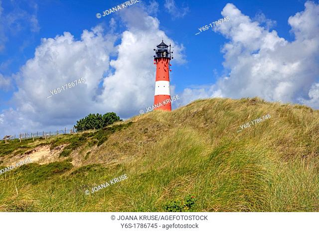 Lighthouse, Hoernum, Sylt, Schleswig-Holstein, Germany
