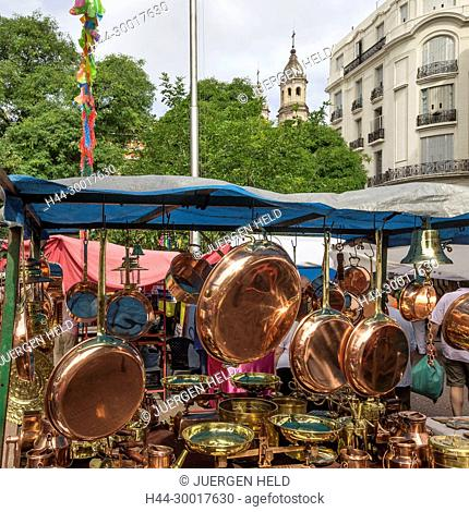 Argentina, Buenos Aires, San Telmo, Plaza Dorrego, The Sunday Flea Market