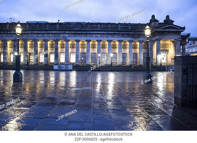 Edimburg museum by night, Scotland. UK