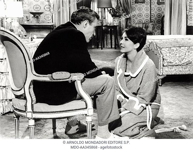 Jennifer Jones and Jason Robards. Actors Jennifer Jones and Jason Roabrds in a scene from the movie 'Tender Is the Night'. USA, 1962