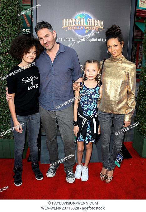 """Universal Studios Hollywood Hosts The Opening Of """"""""The Wizarding World Of Harry Potter"""""""" Featuring: Thandie Newton, Ol Parker, Ripley Parker"""