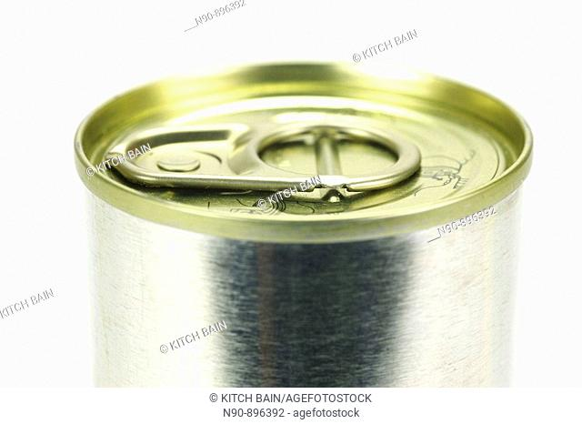 Canned food isolated against a white backgound