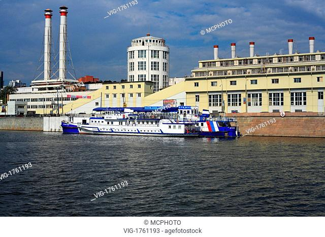 Tourist ship on Moskva river, Moscow, Russia - Russland, 04/09/2007