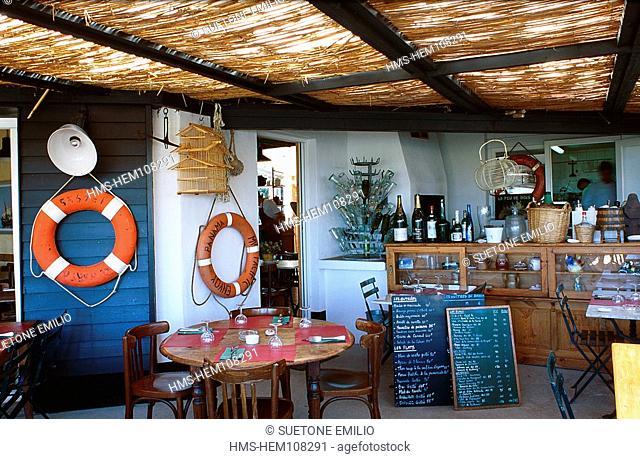 France, Charente Maritime, Ile de Re, restaurant la Paillotte