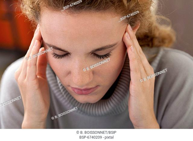 WOMAN WITH HEADACHE Model